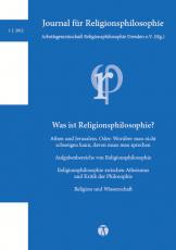 Journal für Religionsphilosophie Nr. 1 (2012)